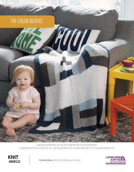 Knit cute projects such as Tri-Color Blocks ePattern!