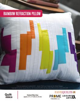 Rainbow Refraction Pillow Quilt ePattern originally published in leaflet #7493 Modern Patchwork, design by Ann Butler Designs.