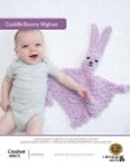 Cuddle Bunny Afghan Crochet ePattern originally published in Leaflet #75731 Cute Baby Stuff design by Lion Brand.