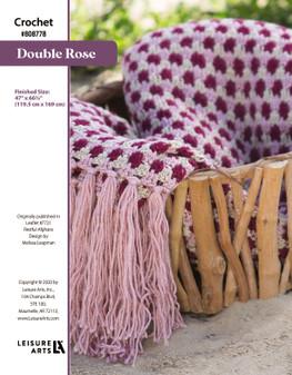 Double Rose ePattern, originally published in Leaflet #7721 Restful Afghans, design by Melissa Leapman.