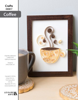 Coffee Quilling ePattern originally published in Leaflet #7783 Quilling for Beginners design by Swirly Studio, LLC.