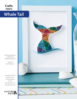 Whale Tail Quilling ePattern, originally published in Leaflet #7783 Quilling for Beginners