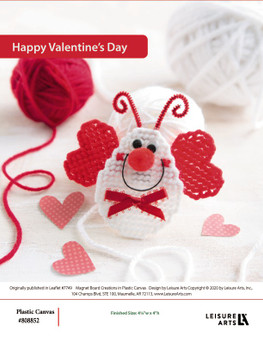 Happy Valentine's Day plastic canvas ePattern, originally published in leaflet #7749 Magnet Board Creations.