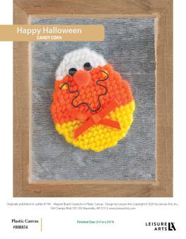 Happy Halloween plastic canvas ePattern, originally published in Leaflet #7749.