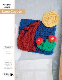 Lone Coyote Crochet ePattern originally published in leaflet #7748 Magnet Board Creations.