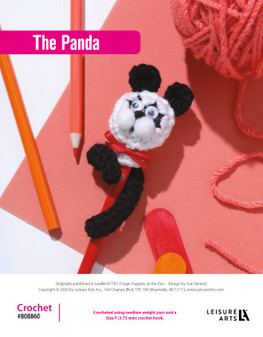 The Panda Crochet ePattern, originally published in Leaflet #7745 Finger Puppets at the Zoo.