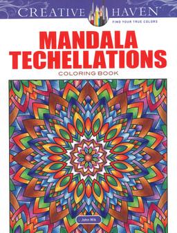 Dover Publications Creative Haven Mandala Techellations Coloring Book