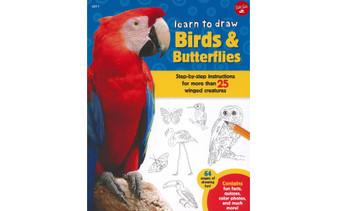 Walter Foster Jr Learn To Draw Birds & Butterflies Book