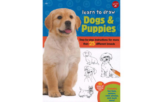 Walter Foster Jr Learn To Draw Dogs & Puppies Book