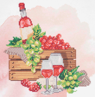 "Diamond Art Kit 12""x 12"" Sparkle Intermediate Wine Crate"