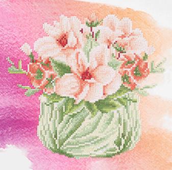 "Diamond Art Kit 12""x 12"" Sparkle Intermediate Flower Bowl"