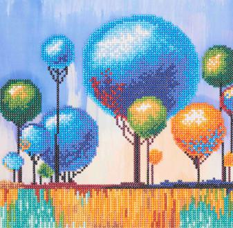 "Diamond Art Kit 12""x 12"" Sparkle Intermediate Lolypop Tree"