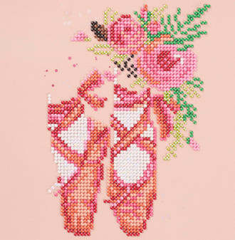 """Diamond Art Kit 8""""x 8"""" Sparkle Beginner Floral Ballet"""