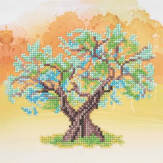 """Diamond Art Kit 8""""x 8"""" Sparkle Beginner Yellow Tree"""