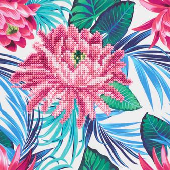 """Diamond Art Kit 8""""x 8"""" Sparkle Beginner Tropical Flower"""