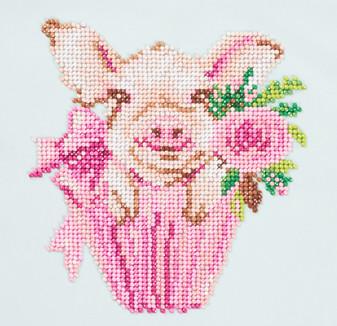 """Diamond Art Kit 8""""x 8"""" Beginner Pig"""