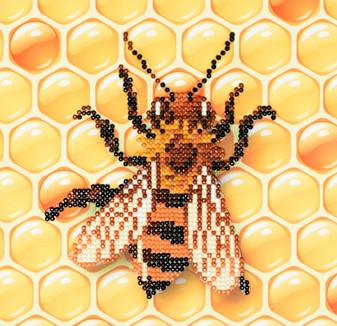 """Diamond Art Kit 8""""x 8"""" Beginner Bee 2"""