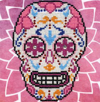 """Diamond Art Kit 8""""x 8"""" Beginner Sugar Skull"""