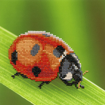 "Diamond Art Kit 8""x 8"" Beginner Ladybug"