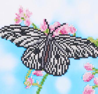 """Diamond Art Kit 8""""x 8"""" Beginner Rice Paper Butterfly"""