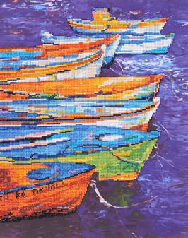 "Diamond Art Kit 16""x 20"" Advanced Boats"