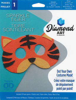 Diamond Art Kit Costume Foam Mask Tiger