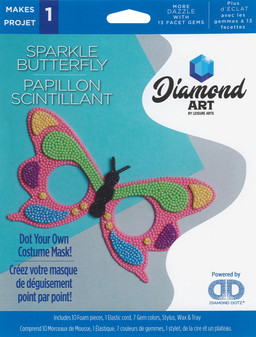 Diamond Art Kit Costume Foam Mask Butterfly