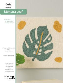 ePattern Monstera Leaf Yarn Painting