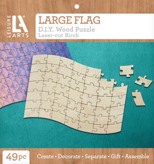 Leisure Arts Wood Puzzle Large Flag
