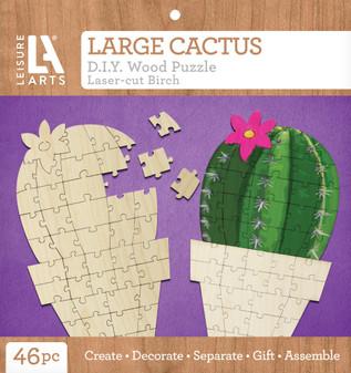 Leisure Arts Wood Puzzle Large Cactus