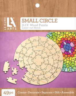 Leisure Arts Wood Puzzle Small Circle