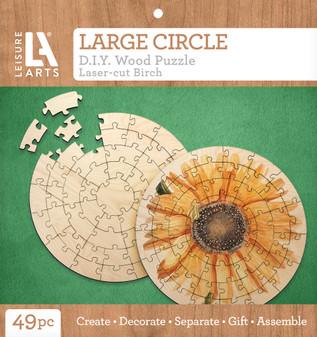 Leisure Arts Wood Puzzle Large Circle