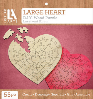 Leisure Arts Wood Puzzle Large Heart