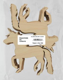 Leisure Arts Wood Shape Flat Unicorn