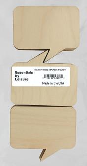 Leisure Arts Wood Shape Flat Rect Thought Bubble