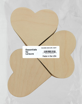 Leisure Arts Wood Shape Flat Heart