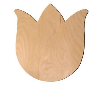 Leisure Arts Wood Shape Flat Tulip