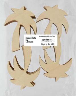 Essentials By Leisure Arts Wood Shape Flat Palm Tree