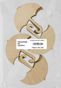 Essentials By Leisure Arts Wood Shape Flat Umbrella