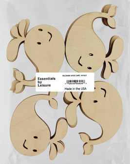 Essentials By Leisure Arts Wood Shape Flat Whale