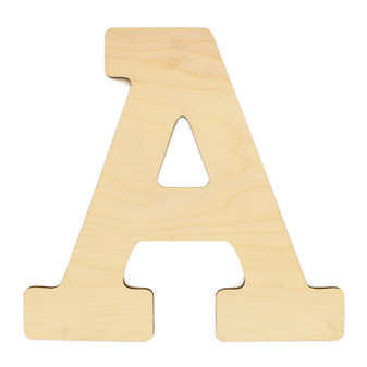 """Essentials By Leisure Arts Wood Letter 13"""" Birch A"""