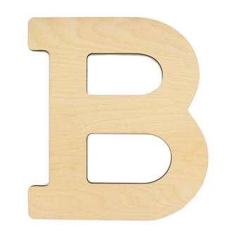 """Essentials By Leisure Arts Wood Letter 13"""" Birch B"""