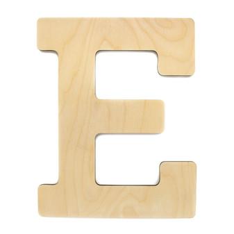 "Essentials By Leisure Arts Wood Letter 13"" Birch E"