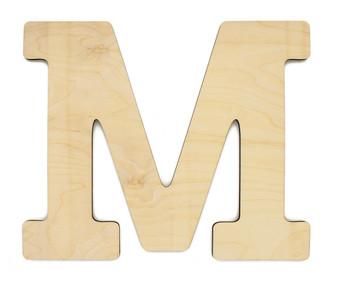 """Essentials By Leisure Arts Wood Letter 13"""" Birch M"""