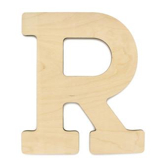 """Essentials By Leisure Arts Wood Letter 13"""" Birch R"""