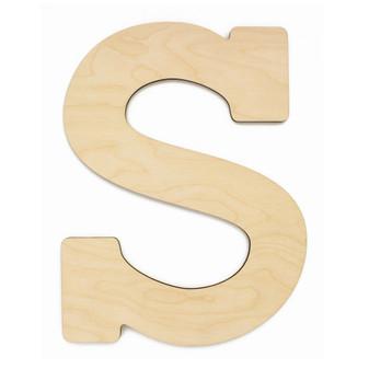 "Essentials By Leisure Arts Wood Letter 13"" Birch S"