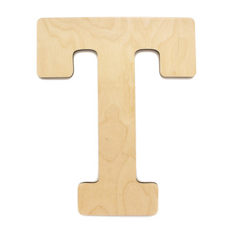 "Essentials By Leisure Arts Wood Letter 13"" Birch T"