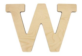 """Essentials By Leisure Arts Wood Letter 13"""" Birch W"""