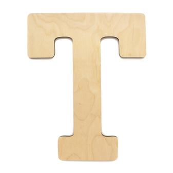 "Essentials By Leisure Arts Wood Letter 9.5"" Birch T"