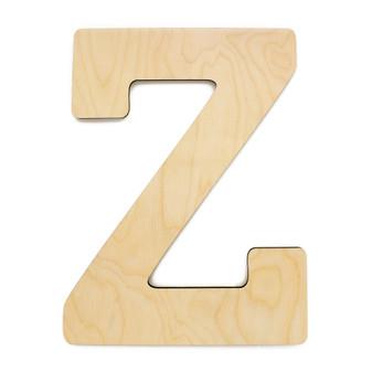 """Essentials By Leisure Arts Wood Letter 9.5"""" Birch Z"""